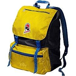 Zaino tempo libero e scuola INVICTA - JOLLY III VINTAGE - giallo blue original Porta PC
