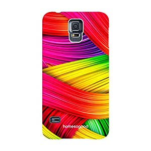 HomeSoGood Colorful Abstract Painting Multicolor 3D Mobile Case For Samsung S5 ( Back Cover)