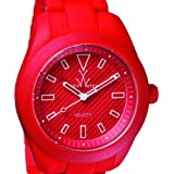 ToyWatch Women's Velvety 41mm Red Silicone Band & Case Quartz Analog Watch VV08RD