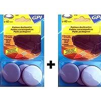 GPI - 315429 - Lot de 8 patins glisseurs spécial gros meubles