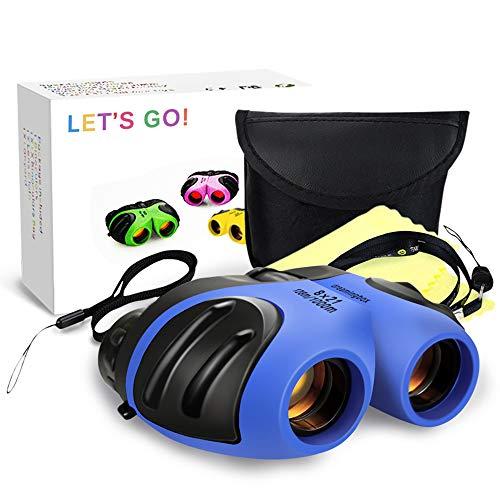 Prismáticos para Niños, DMbaby 8X21 Compactos Binoculares - Juguetes Niñas Azul DL02