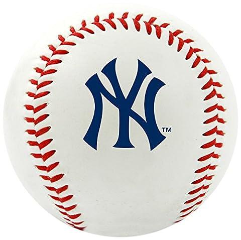 MLB New York Yankees Team Logo Baseball, Official, White