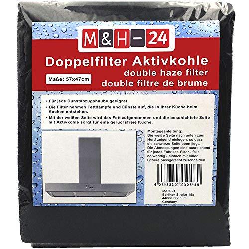 DragonPad Filter Dunstabzugshaube, Universal Aktivkohle Zuschneidbar Dunstabzugshaubenfilter für Dunstabzugshauben 57 × 47 × 0,8 cm
