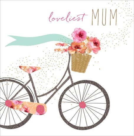 Quadratische Umschläge Braune (Mother 's Day Karte, Beschriftung Loveliest Mum # 399)