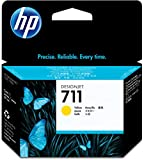HP CZ132A 711 29ml Ink Cartridge for Designjet T120/T520 Large Format Inkjet Printers - Yellow