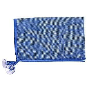 Lalang Kids Baby Bath Time Toys Storage Suction Bags Children Toys Organizer Bag (deep blue)