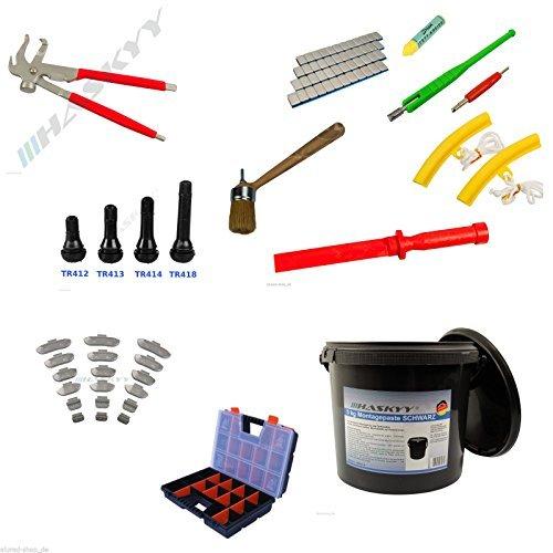 Preisvergleich Produktbild 335 tlg. Reifen - Montage Auswucht- Klebegewichte, Gummiventile Wekzeug