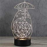 3D Nachtlicht LED Acryl Holzsockel USB Kreative Stereo Vision Tischlampe (Katze)