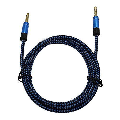 1,5 M Geflochten 3,5 mm Stecker-Stecker Auto Stereo Audio Aux Kabel
