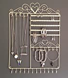 Shabby Chic Vintage Large Jewellery Wall Hanger Holder Cream