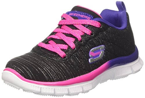 Skechers Appeal-Glitter Rush, Sneakers Basses Fille Noir (BPPR)
