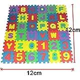 KingbeefLIU 36pcs Enfants numéros Alphabet Puzzles Rampant Tapis de Sol en Mousse éducation Jouet,Jouets pour Enfants 36Pcs# 12cm