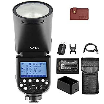 Godox V1-C Camera Flash Speedlite, Round Head TTL Flash with 2.4G Wireless system, 1/8000 HSS, 10 Level LED Modeling Lamp, 2600mAh Lithium Battery, Compatible with Canon Cameras