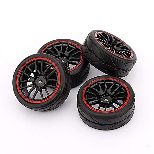 Yosoo Huhushop RC Racing Cerchi in Gomma (TM) 4 per Cerchi Auto HSP HPI 9068-6081 1/10 on The Ro