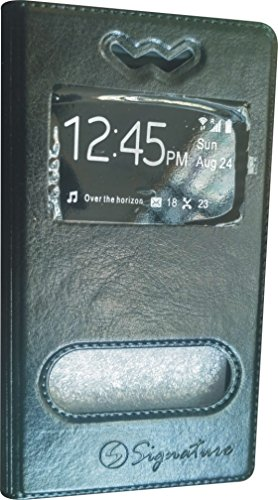 BKDT Marketing Leather look Flip Cover for Karbonn Titanium S1 Plus With Stand - Black  available at amazon for Rs.234