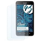 Bruni Schutzfolie kompatibel mit Huawei Ascend G620s Folie, glasklare Bildschirmschutzfolie (2X)