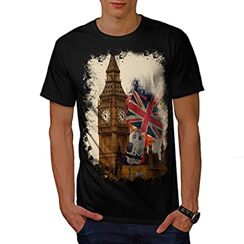 Big Ben Flag London UK Men S T-shirt | Wellcoda