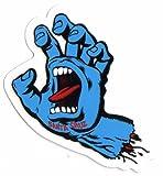 Santa Cruz Screaming Hand Skateboard Sticker in Blue - Jim Phillips Design 8cm NEW by Santa Cruz
