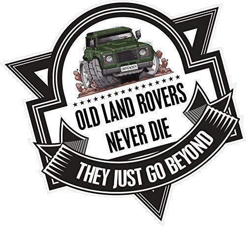 Ct Design Koolart Dibujo Antiguo Land Rovers Nunca Muere Eslogan Para Verde Landy Defender 110 Adhesivo Vinilo Para Auto Placa 100x100mm Aprox
