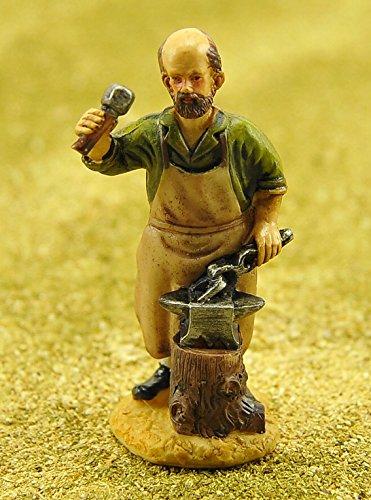 Figur cm.10Hufschmied mit Messerblock und Amboss