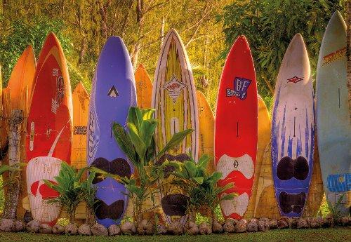 Komar - Fototapete MAUI - 368x254 cm - Tapete, Wand Dekoration, Hawaii, Maui, Surfen, Sport, Insel, Wald, Urlaub - 8-902