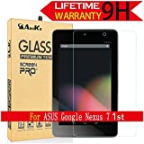 ASUS Google Nexus 7 Glass Screen Protector,(2012 Model) AnoKe (0.3mm 9H Hardness) Tempered Glass Screen Protector For ASUS Google Nexus 7 1nd , [Lifetime Warranty] Glass
