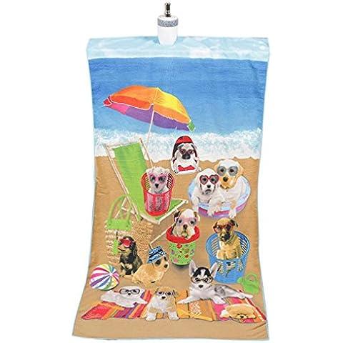 Teli Mare , Ouneed® Assorbente in Microfibra Bath Beach Porta Asciugamani Washcloth Costumi da Bagno Doccia, 70*140cm (Multicolor Dog)