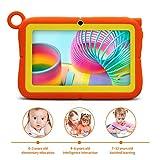 A3 Tablette Tactile Enfants 7 Pouces Android 8.1, Tablette PC avec Manchon en Silicone - Quad Core 1 GO de Ram+16 GO de Rom, IPS 1280x800, Double Caméra, Tablette avec Wifi, 3G, Bluetooth, Google Play
