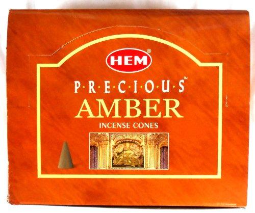 Räucherkegel HEM AMBER incense cones Precious 12 x 10 Stück
