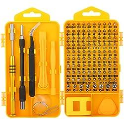 Tournevis de Precision, M.Way 108 en 1 Kit de Tournevis Multi-fonction Outils de Reparation Telephone pour apple iPhone Samsung Smartphone, Laptop, Computer, Macbook, Montre, Jouets, Lunettes etc.