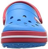 Crocs Crocband Unisex Kids' Clogs - Blue (Ocean/Red),  C4-5 (19-21 EU) Bild 4