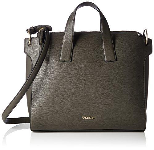 Calvin Klein - Iren3 Tote, Borse Tote Donna Verde (Black Olive)