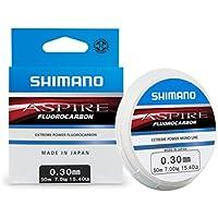 Shimano Aspire Fluorocarbon 50, color transparente, talla 0.180 mm