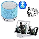#10: Captcha® M16 Mini Led Light Portable Wireless Speaker & Terible Base Boost Sound with 3D Screen Mobile Screen Enhancer for Honor 9i & Redmi Y2 Mobile