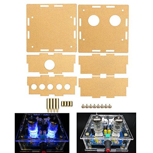 LaDicha Coque Acrylique Transparente De Logement pour L'Amplificateur De Préamplificateur De Tube 6J1
