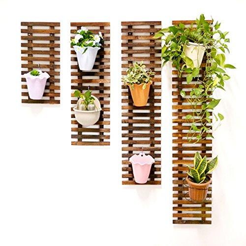 WOODEN LIFE Supporto da Parete in Legno da Parete A Forma di Fiore, Vaso da Fiori per Piante Aromatiche Si Erge sul Muro Portabottiglie A Forma di Fiore in Ceramica per Esterni (Solo 1 Pz)