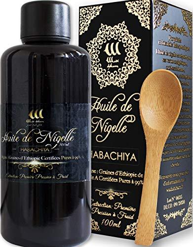 Huile de Nigelle Pure(Ethiopie)100ml et cuillère en bois/Cumin noir/Pureté...