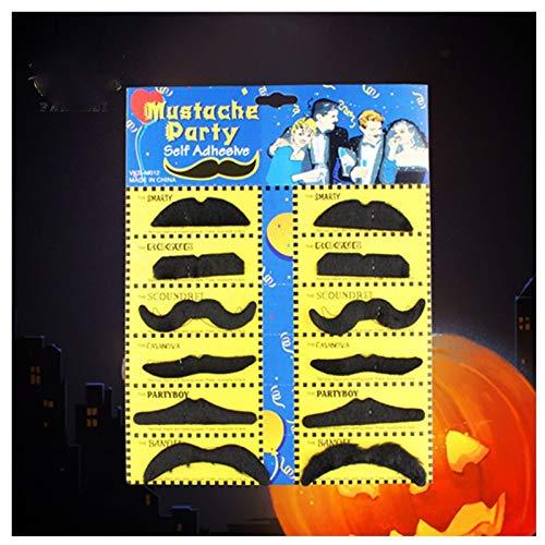 WSJDE 12 Stücke Halloween Party Kreative Lustige Kostüm Piraten Party Schnurrbart Cosplay Gefälschte Schnurrbart Gefälschten Bart Für Kinder Erwachsene Decor