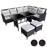 SVITA Poly Rattan Set Rattan-Lounge Esstisch Gartenmöbel Gartenset Sofa Garnitur Couch-Eck