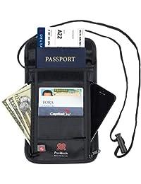 Pochette pour tous vos documents. En Nylon RFID sécurisé pour une protection optimum de vos cartes et documents. Bandoulière réglable