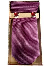 Blacksmith Blue Dot Tie, Bowtie, Cufflink, Pocket Square Set for Men