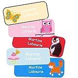 Stickers Personnalisés Prénom Et Nom | Autocollants Personnalisés Étanches Motifs Variés Fille (40)...