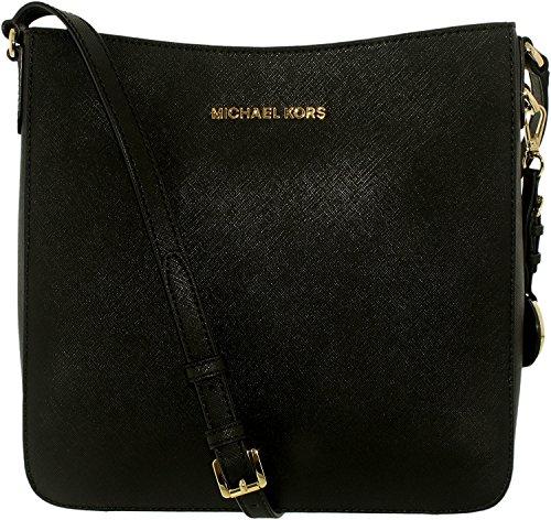 Michael Michael Kors Jet Set voyage Grand en cuir Saffiano sac à bandoulière Noir - noir