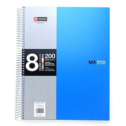 basicos-mr-42004-cahier-a4-200-feuilles-quadrillees-8-couleurs-bleu
