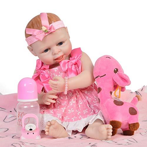 ZZYB Ganzer Körper Silikon Baby Schwarz Haut Simulation Weiche Lebensechte Reborn Baby Puppe 42cm Realistische Weichkörperpuppe Kinder Spielzeug Geburtstag ()