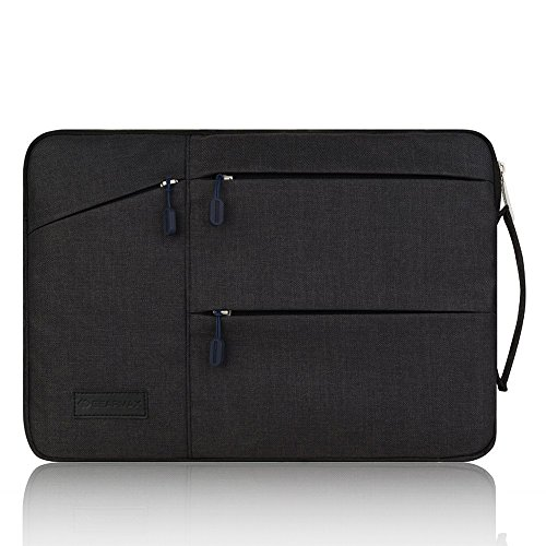 Business Tasche Notebook Hülle Yarrashop 13 - 13.3 Zoll Schwarz Laptop Sleeve Bag einfachen Stil Wasserabweisendes Nylongewebe Notebook Sleeve für Macbook Air Pro/ Notebook / Surface / Dell Tasche