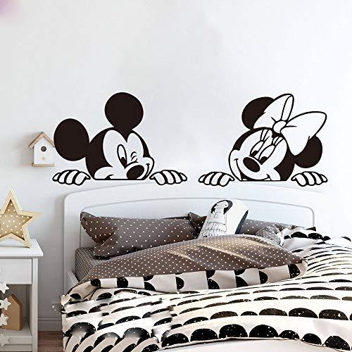 Mickey Minnie Mouse Wandkunst Aufkleber Aufkleber Cartoon Mickey Minnie Mouse Wandaufkleber Kinderzimmer Kinderzimmer Anime Mouse Wandtattoo Schlafzimmer Sofa