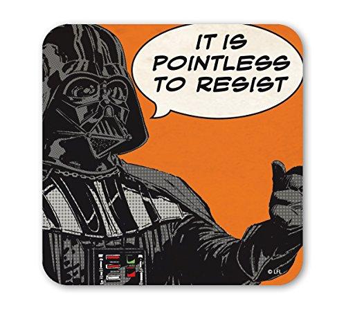 Star Wars Untersetzer - Comics - Krieg der Sterne - Darth Vader - Pointless - farbig - Lizenziertes Originaldesign - LOGOSHIRT
