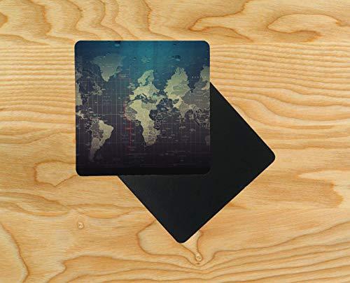 karte, Holz, 95 x 95 mm, holz, mehrfarbig, 10er-Pack ()