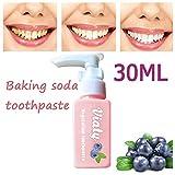 Dentifrice sans fluor Bicarbonate De Soude blanchiment des dents combattre la carie mauvaise haleine Haleîne Fraîche Anti-Plaque Rend les Dents Blanches Instantanément enlèvement des taches (30ml)